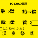 知能指数(IQ)100~150以上の問題集・無料解説付き!